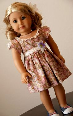 For American Girl Dolls Original Dress by DollhouseDesigns