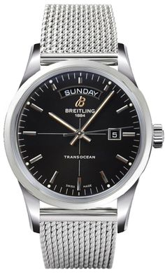 #Breitling #Transocean Day & Date Stainless Steel #Watch