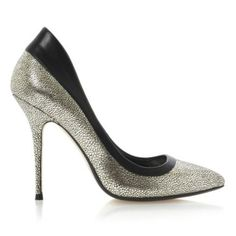 BEBE - Metallic Pointed Toe Stiletto Court Shoe By Dune London #dunelondon #dune #shoes #courts #heels #metallic #shine #aw13