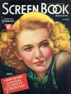 "Barbara Stanwyck ~ ""Screen Book"" magazine..."