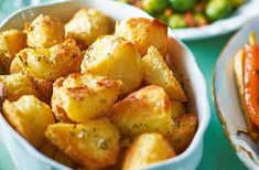 Upgrade crispy roast potatoes with garlic butter and sage for a winning Christmas dinner side dish. Find plenty more Christmas side dishes at Tesco Real Food. Christmas Dinner Side Dishes, Thanksgiving Side Dishes, Xmas Food, Christmas Cooking, Christmas Potatoes, Crispy Roast Potatoes, Roasted Potato Recipes, Tesco Real Food, Gnocchi