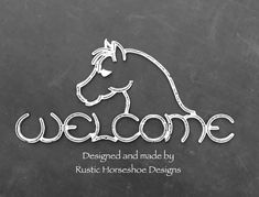 Shetland Pony Welcome - Made from recycled steel horseshoes by Rustic Horseshoe Designs, this original and unique Welcome s - Welding Art Projects, Welding Crafts, Diy Welding, Metal Welding, Metal Projects, Welding Tools, Diy Tools, Blacksmith Projects, Diy Projects