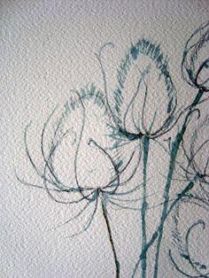 Watercolour Florals: Teasels