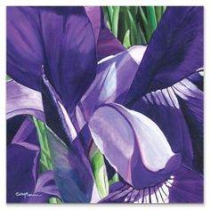 Metal Art Studio Heart of a Purple Iris 22-Inch Square Plexiglass Wall Art. #metalwallart #metalart #purpledecor #funkthishouse #afflnk