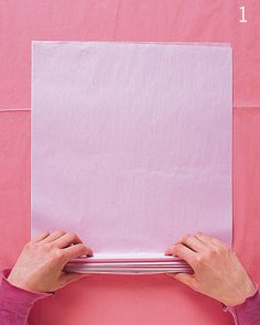 Dicas pra Mamãe: Passo a passo de Pompons/Flores de papel de seda