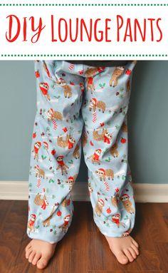 PJ/Lounge Pants Tutorial- how to sew pajama pants or lounge pants with an elastic waist- Mary Martha Mama- #sewing #sewingproject #pajamapants