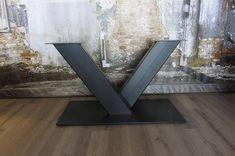 handgemaakt Industrieel tafelonderstel V poot Zwaar zwart
