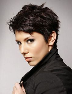 short hairstyles for women thick hair pixie haircuts #hairstyles #woman #look