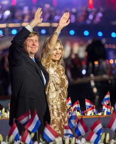 Royal Family Around the World: King Willem-Alexander and Queen Maxima Of The Netherlands Attend Liberation Day Concert on May 5, 2016 in Amsterdam, Netherlands
