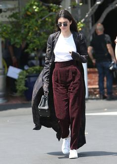 Pin for Later: 15 Adidas Items You'll Find in Every It Girl's Wardrobe  Kendall Jenner wearing Stan Smith sneakers.