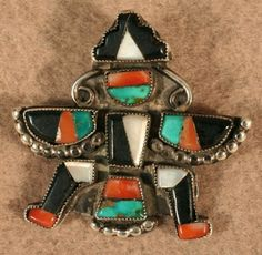 $250 Knifewing Pin with Raindrop Beads, Jewelry by  Zuni