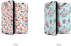 FLORAL IP FLOWER BUMPER GIRLY CASE FOR GALAXY A7