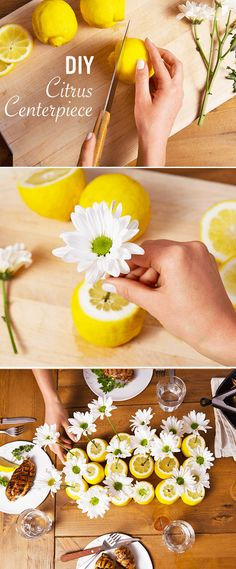 Want a show-stopping yet simple party table decorating idea? Knorr knows the bes., Want a show-stopping yet simple party table decorating idea? Knorr knows the best summer season centerpiece. Place your favorite flower into an orange. Summer Table Decorations, Decoration Table, Table Centerpieces, Birthday Table Decorations, Lemon Centerpiece Wedding, Fruit Centerpiece Ideas, Orange Centerpieces, Summer Centerpieces, Vase Ideas