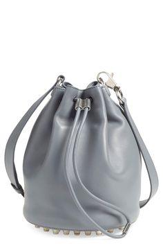 Alexander Wang 'Alfa' Leather Bucket Bag | Iron