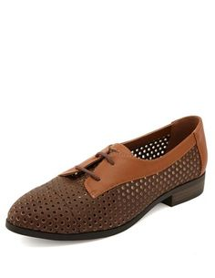 Perforated 2-Tone Oxford: Charlotte Russe