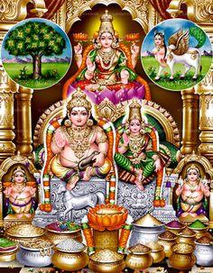 Hindu Cosmos — Lakshmi Kuberan (via Lavanya Pictures & Frames) Shiva Parvati Images, Shiva Hindu, Hindu Rituals, Lakshmi Images, Hindu Mantras, Lord Krishna Images, Hindu Deities, Hindu Art, Durga Images
