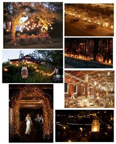 country wedding ideas ... Wedding lights and lighting ... Decorations ... Rustic glamorous, country elegance, shabby chic, vintage, whimsical, boho, best day ever