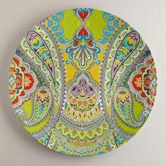 Green Paisley Antigua Platter | World Market