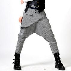 Picture of deepstyle Front-Panel Harem Pants 1022439543 (deepstyle, Mens Pants, Korea)