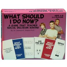 What Should I Do Now? A Social Decision Making Game Group Games, Social Anxiety, Decision Making, Social Skills, Problem Solving, Kids Boys, Games For Kids, Card Games, Counseling