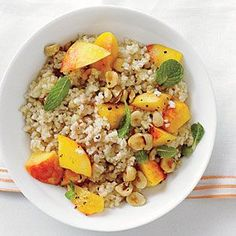 Bulgur with Peaches and Mint | | http://sucheasycookingtips.blogspot.com