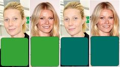 Virtual color analysis practice with Gwyneth Paltrow examples | Diary of a Colour Addict blog