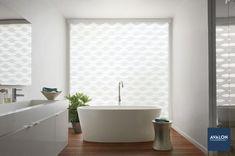 Hunter Douglas Designer Banded Shades | Available at Avalon Flooring | #windowshades #windowcoverings #windowtreatments #hunterdouglas