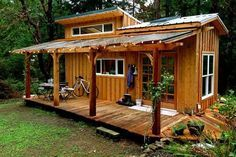 What she came up with was the 168-square-foot Keva Tiny House you see here. #TinyHouseforUs