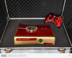 Stark Industries XBOX 360...I'm definitley more of a PS3 person but I just might switch for that.