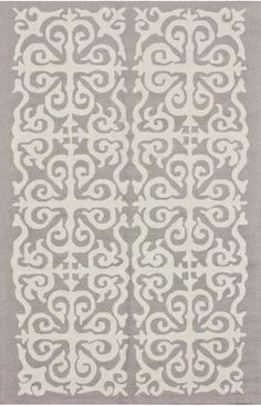 "Rugs USA Homespun Damask Trellis Rug - Enchant (silver) 9'6"" x 7'6"" $305.  OH love this too!!!"