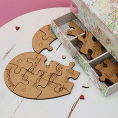 Personalised Heart Jigsaw Keepsake - decorative accessories