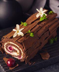 Полено «Чёрный лес» на новый лад + как правильно выбрать какао?