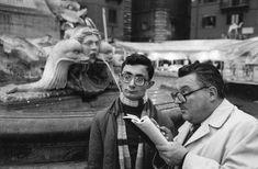 "Piazza della Rotonda. Rome. Italy. 1980. From the series ""Earthlings"". Photo by Richard Kalvar / Magnum Photos."