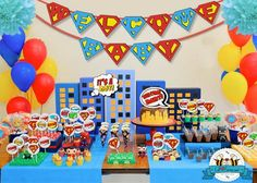Superhero Baby Shower Themes ~ Superheroes baby shower party ideas baby shower parties shower