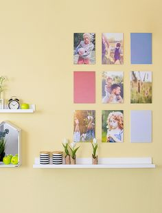 Hochwertig Kinderleiche Wandgestaltung   Unsere Fotocollage Kannst Du Ohne Bohren  Anbringen Und Immer Wieder Neu Gestalten.