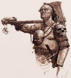 Karl Kopinski - Barbarian sketch