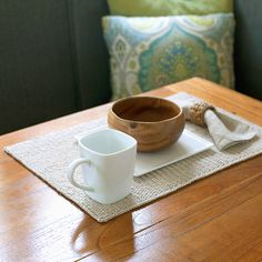 Linen placemats designed by Kerry Robb / from the Natural Home Collection / in Quince & Co. Kestrel