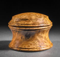 English Box – Thuya burl - Approximately 4″ in diameter and 3″ high. $590 - contact me for purchase info - Steven Kennard