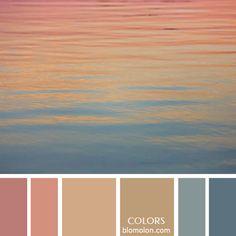 Variedad e inspiración con la entrega número 9 en variedad en #color de paletas del mes de agosto... #colours #paletasdecolores #moodboards #color #colorpalette Sunset Color Palette, Sunrise Colors, Colour Pallette, Room Color Schemes, Room Colors, Paint Color Palettes, Paint Colors, Beach Color, Color Harmony