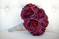 SANGRIA Rhinestone Bridesmaid Bouquet. Real Touch by KimeeKouture