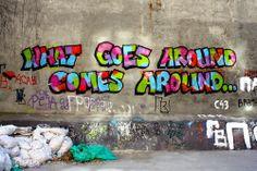 Beogradski grafiti.: What goes around comes around... / Vračar #Beograd #Belgrade #Graffiti #Grafiti #StreetArt