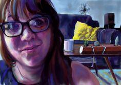 'Katy' Skype painting, London, 2015