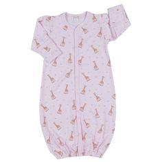 Kissy Kissy - Sophie La Girafe Print Converter Gown - Pink