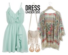 """Dress under 50 $ 3"" by danca-da-solidao ❤ liked on Polyvore featuring Chicwish, New Look, Billabong, OLIVIA MILLER and Dressunder50"