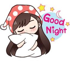 Good night - Hi ! My name is Boobib.I like to wear polka dot dress.Let enjoy with my lovely stickers. Love Cartoon Couple, Cute Cartoon Pictures, Cute Cartoon Girl, Good Night Greetings, Good Night Messages, Good Night Wishes, Cute Love Stories, Cute Love Gif, Cute Love Pictures