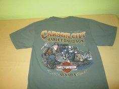 HARLEY DAVIDSON Dealer  T Shirt Sz M Medium - Green - CARSON CITY - NV #HarleyDavidson #GraphicTee