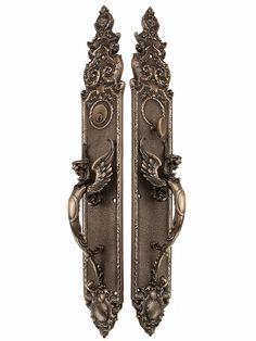 Solid Bronze Griffin Thumblatch Entry Set In Antique-By-Hand Finish | House of Antique Hardware