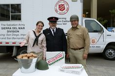 A real Donut Lassie, along with a soldier and Salvation Army Major, were passing out free Krispy Kreme Doughnuts for National Donut Day last Friday!