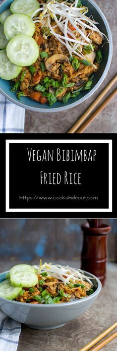 Bibimbap fried rice is a spicy and delicious Korean dish that has all the flavors of the traditional Bibimbap but is much easier to make.