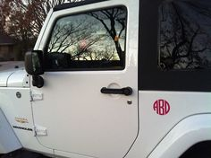 In love... Jeep and a monogram.
